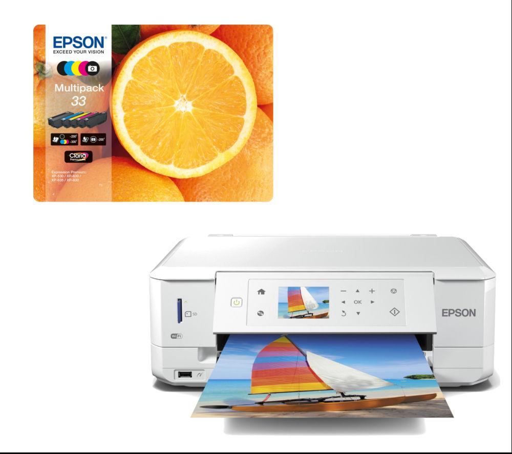 Epson Expression Premium XP-635 All-in-One Wireless Inkjet Printer & Ink Cartridges BundleExpression Premium XP-635 All-in-One Wireless Inkjet Printer