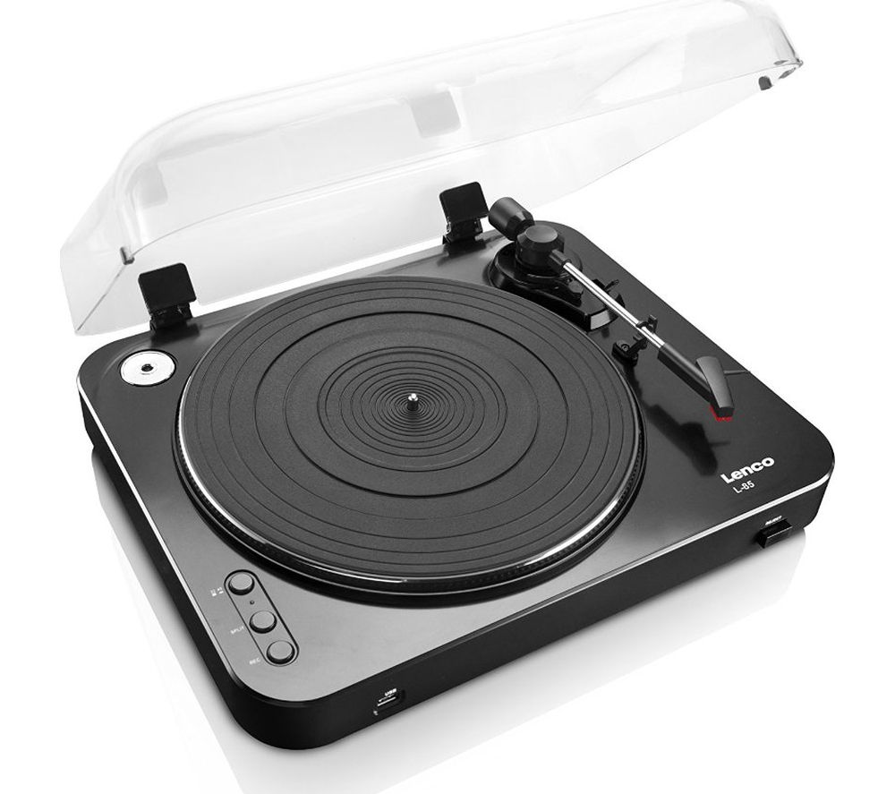 Click to view more of LENCO  L-85 Turntable - USB, Black, Black