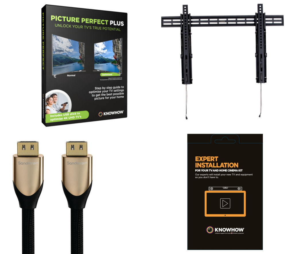 KNOWHOW 4K Ultra HD TV Wall Mount Install Pack