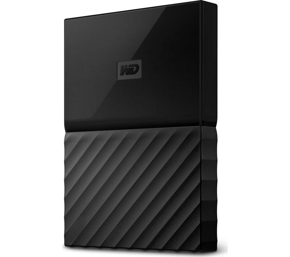 WD My Passport Portable Hard Drive - 1 TB, Black