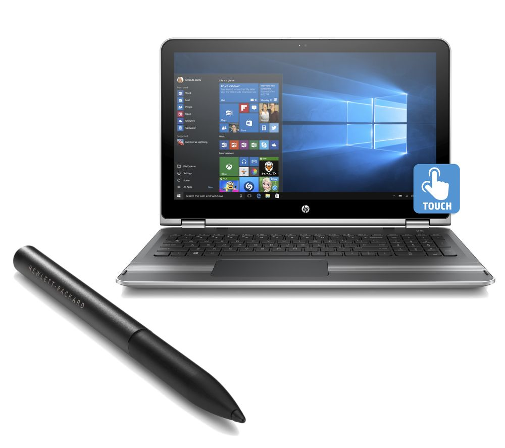 HP  Pavilion x360 15bk057sa 15.6 2 in 1 & Active Stylus Bundle