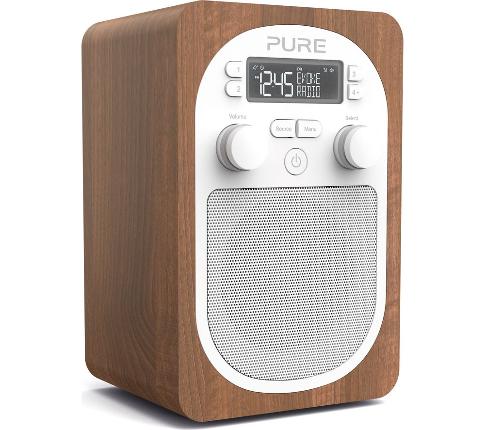 PURE Evoke H2 Portable DABFM Clock Radio  Walnut