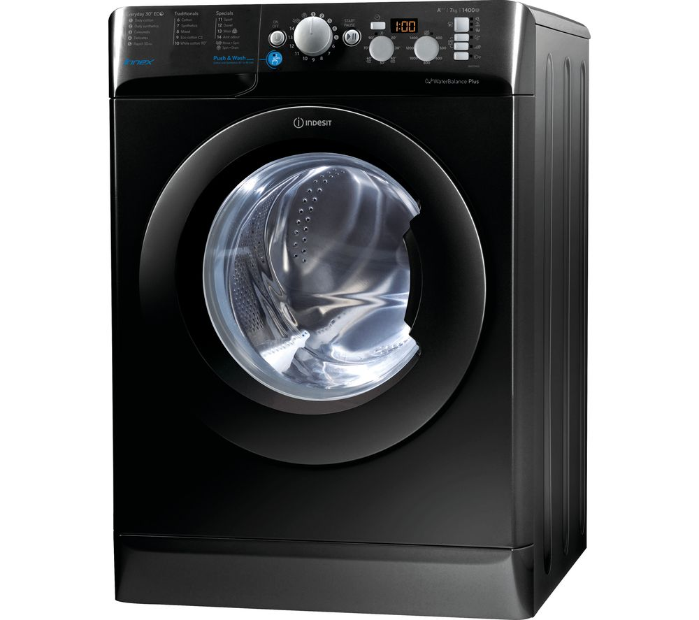 INDESIT BWD 71453 K 7 kg 1400 rpm Washing Machine  Black Black
