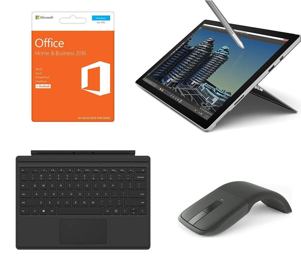 Buy MICROSOFT Surface Pro 4, Office Home & Business ...
