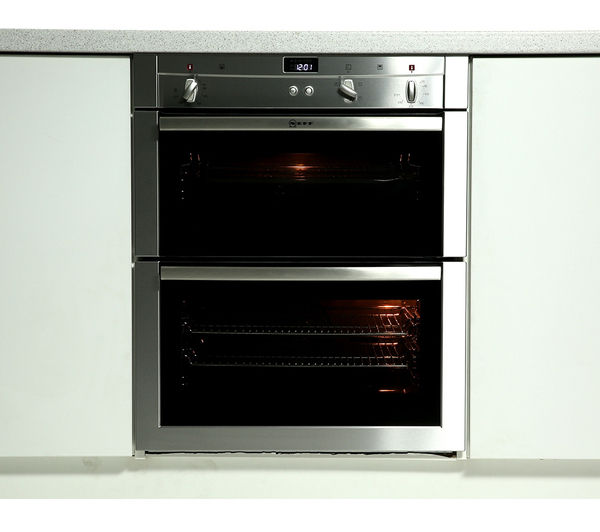Buy neff u17s32n3gb electric built under double oven stainless steel free delivery currys - Neff electric ...