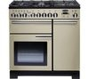 RANGEMASTER Professional Deluxe 90 Dual Fuel Range Cooker - Cream & Chrome
