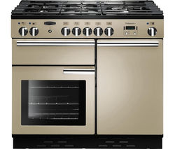 RANGEMASTER Professional+ 100 Dual Fuel Range Cooker - Cream & Chrome