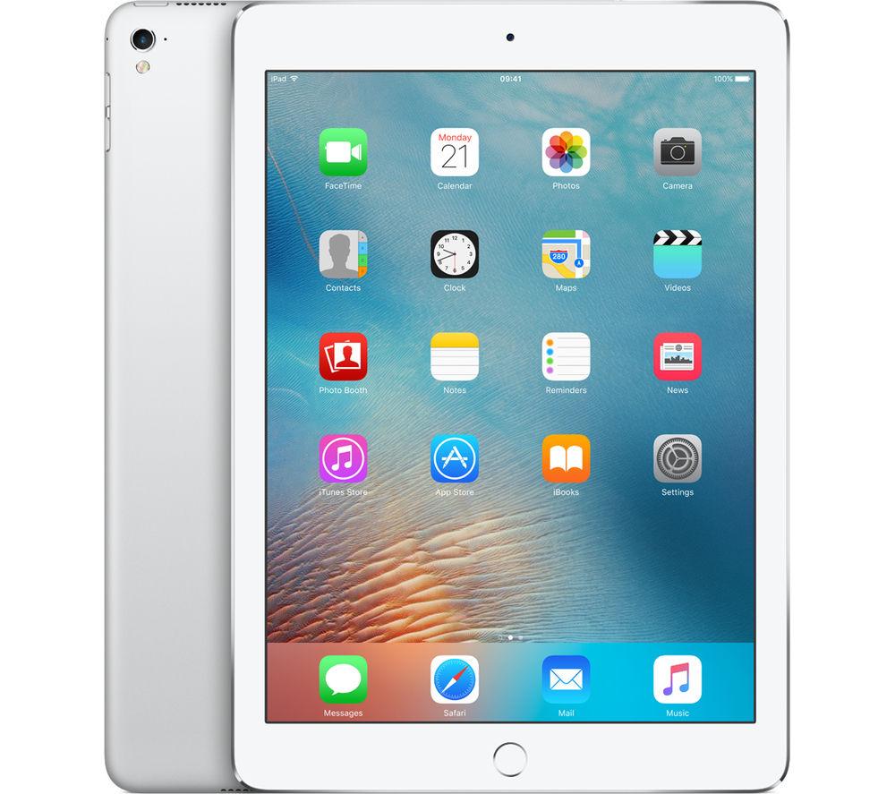 "APPLE  9.7"" iPad Pro Cellular - 256 GB, Silver +  Pencil - White +  iPad Pro 9.7"" Screen Protector +  iPad Pro 9.7"" Smart Cover - Charcoal Grey"