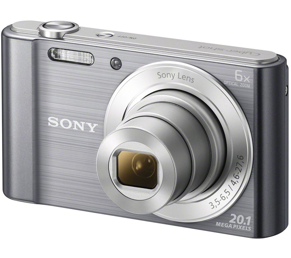SONY Cyber-shot DSCW810B Compact Camera - Gun Metal + Extreme Plus Class 10 SD Memory Card Twin Pack - 16 GB