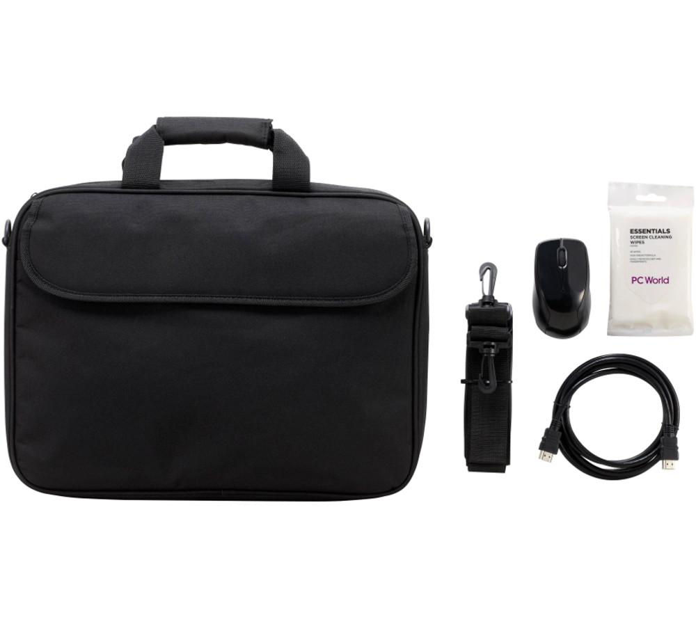 ESSENTIALS Laptop Accessory Bundle - Black