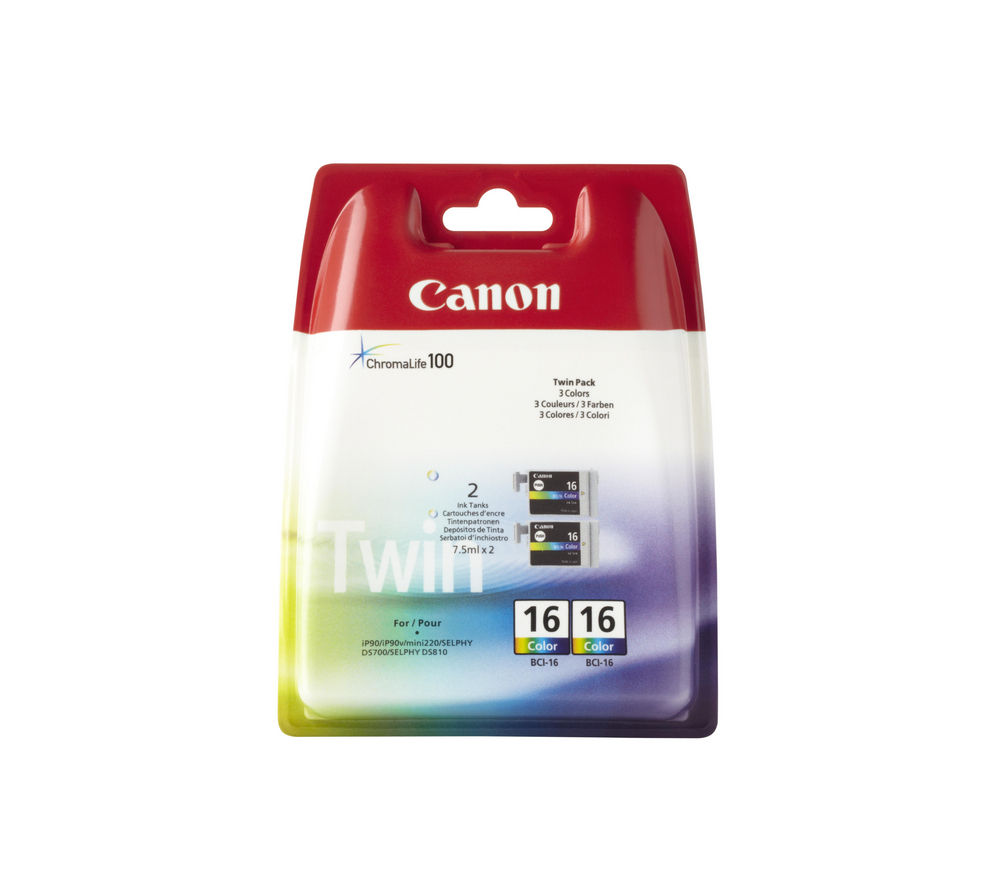 CANON BCI-16 Colour Ink Cartridge - Twin Pack