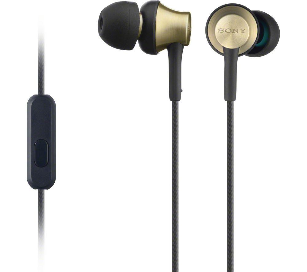 SONY MDREX650APT Headphones  Black & Gold Black
