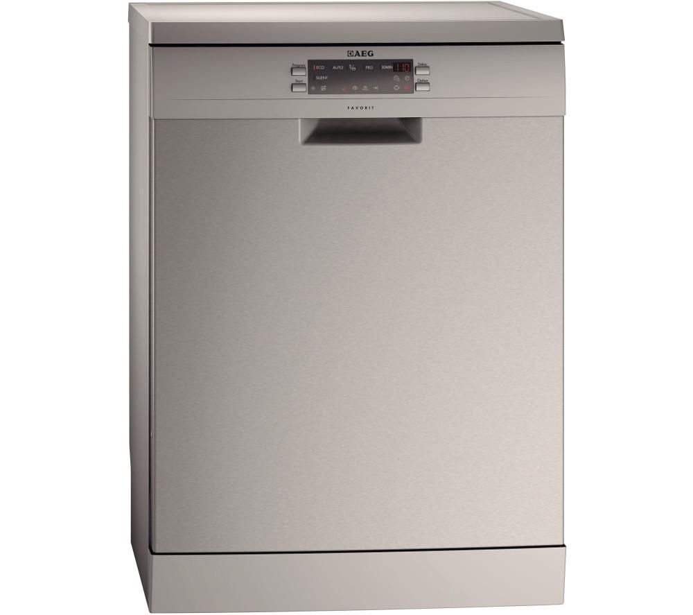 AEG F66609M0P Full-size Dishwasher - Stainless Steel