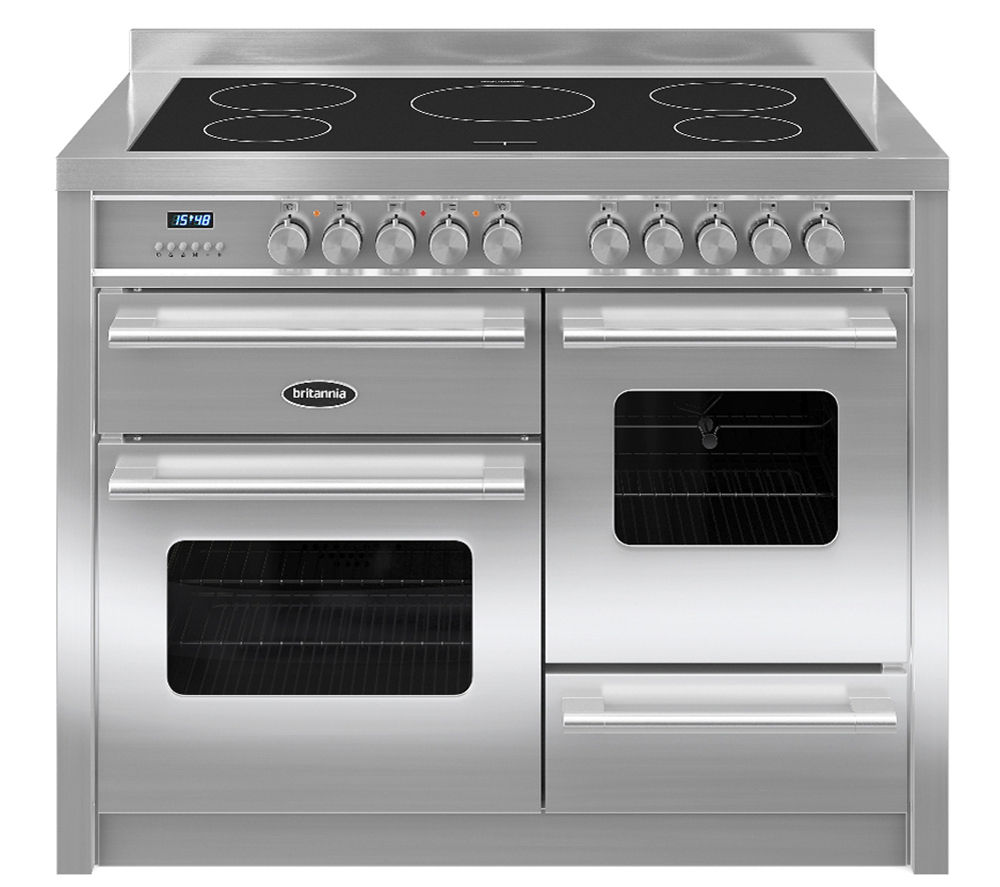 BRITANNIA Delphi 110 RC11XGIDES Electric Induction Range Cooker - Stainless Steel