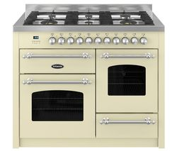 BRITANNIA Fleet 110 RC11XGGFLCR Dual Fuel Range Cooker - Matte Cream & Stainless Steel
