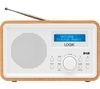 LOGIK LHDR15 Portable DAB/FM Clock Radio - Light Wood & White