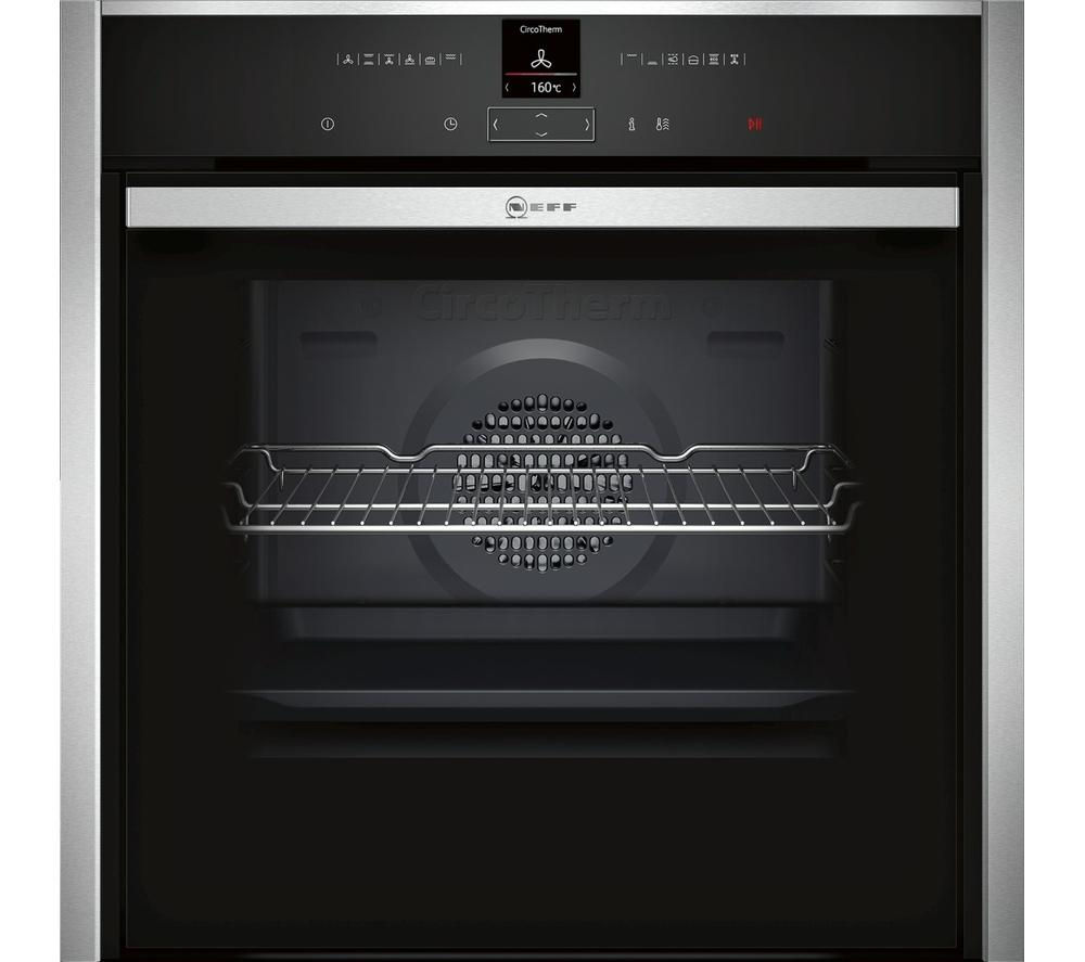 NEFF  B47CR32N0B Slide & Hide Electric Oven - Stainless Steel +  T40B30X2 Electric Induction Hob - Black