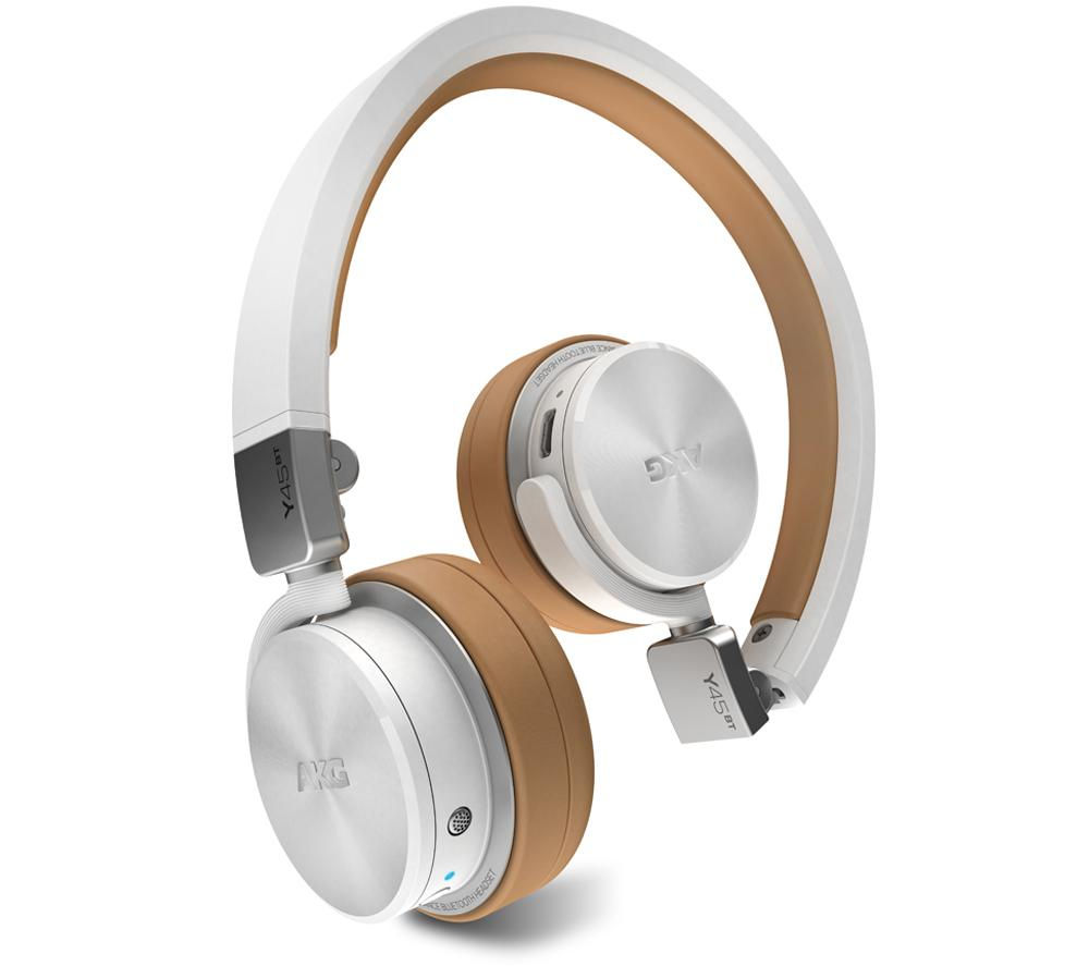 Image of AKG Y45BT Wireless Bluetooth Headphones - White, White