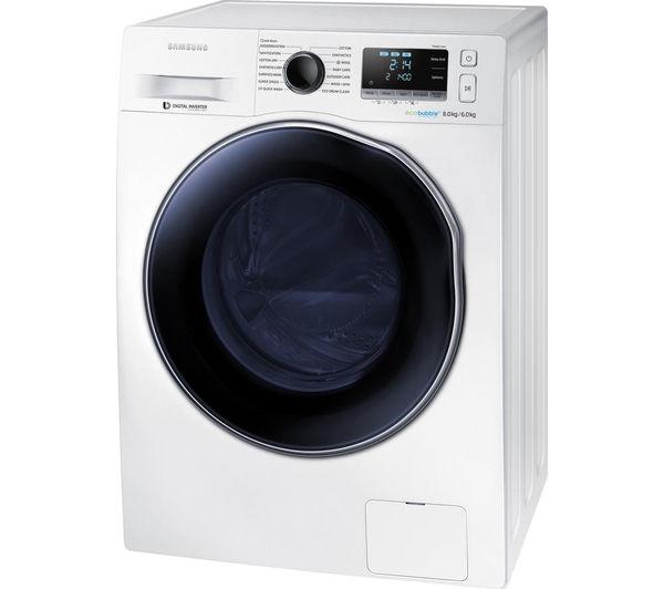 buy samsung ecobubble wd80j6410aw eu washer dryer white. Black Bedroom Furniture Sets. Home Design Ideas
