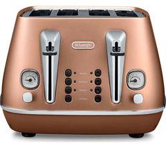 DELONGHI Distinta CTI4003.CP 4-Slice Toaster - Copper