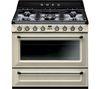 SMEG Victoria TR90P1 90 cm Dual Fuel Range Cooker - Cream & Stainless Steel