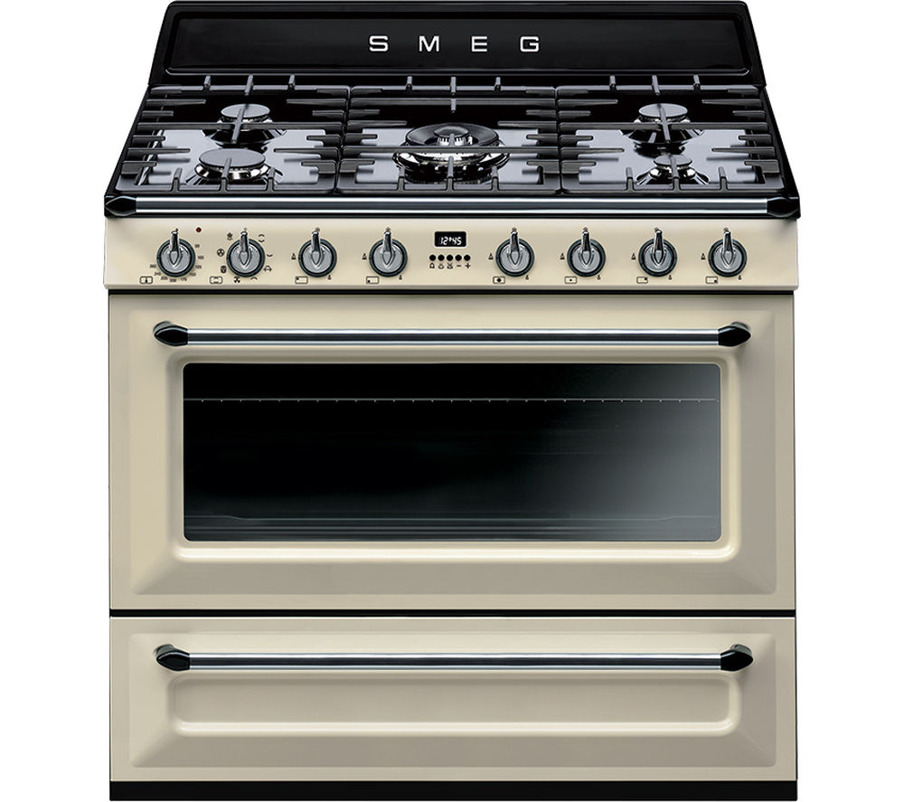 buy smeg victoria tr90p1 90 cm dual fuel range cooker. Black Bedroom Furniture Sets. Home Design Ideas