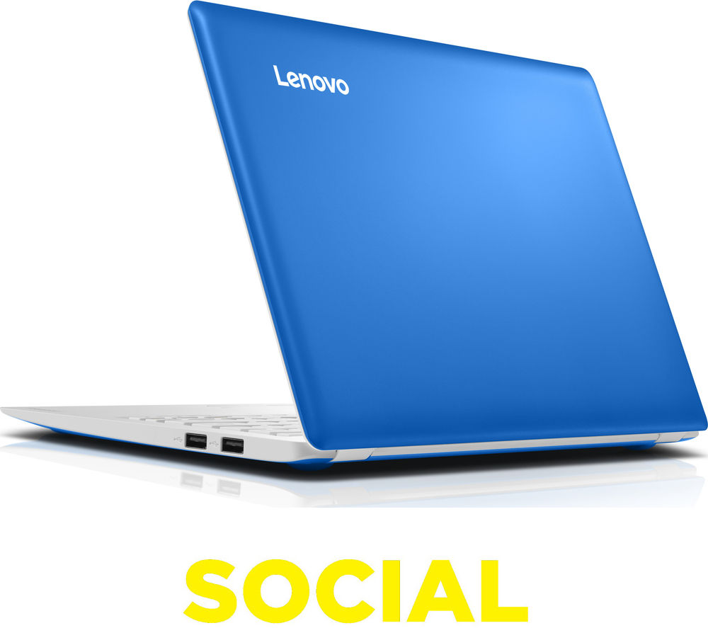 "LENOVO  IdeaPad 100S 11.6"" Laptop - Blue +  LiveSafe Unlimited 2016"