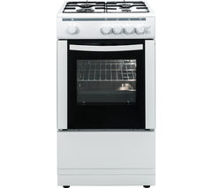 ESSENTIALS CFSGWH16 50 cm Gas Cooker - White