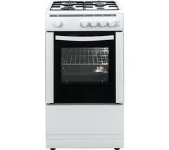 ESSENTIALS CFSGWH16 50 cm Gas Cooker - White