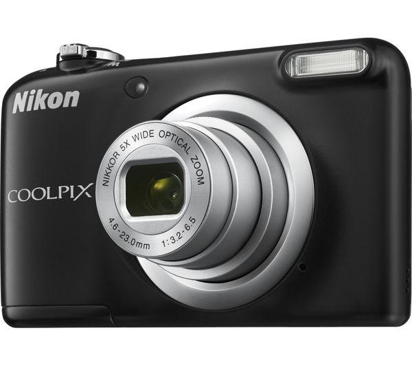 nikon coolpix a10 compact camera black deals pc world. Black Bedroom Furniture Sets. Home Design Ideas