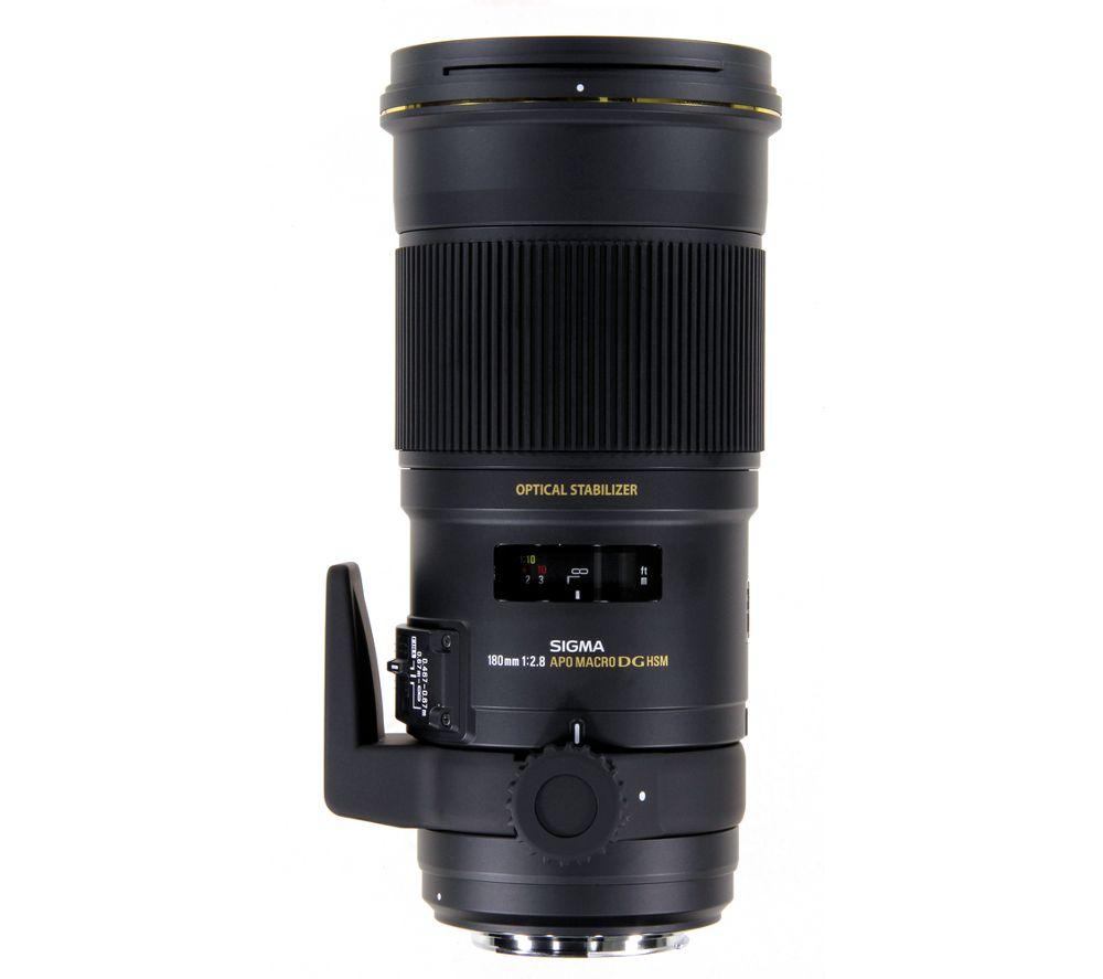 SIGMA 180 mm f/2.8 APO EX DSG HSM Macro Lens - for Nikon