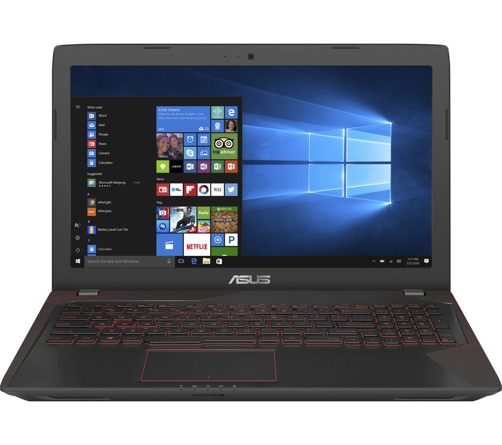 "ASUS Republic of Gamers FX553 15.6"" Gaming Laptop - Black + Office 365 Personal + LiveSafe Unlimited 2017 - 1 year"