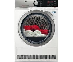 AEG AbsoluteCare T8DEE845R Heat Pump Condenser Tumble Dryer - White