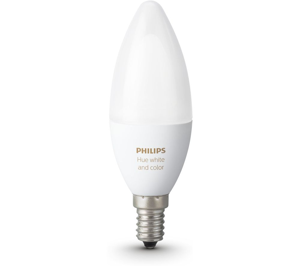 buy philips hue white colour ambience wireless bulb e14 free delivery currys. Black Bedroom Furniture Sets. Home Design Ideas