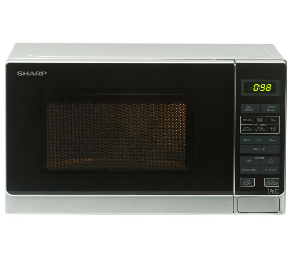 Sharp R272SLM Solo Microwave  Silver Silver
