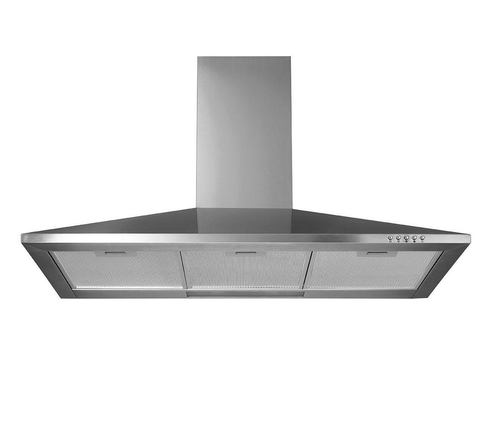 LOGIK L90CHDX13 Chimney Cooker Hood - Stainless Steel