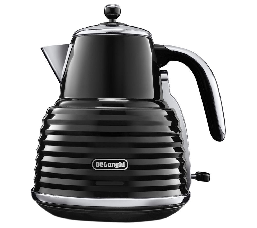 DELONGHI Scultura KBZ3001BK Jug Kettle - Black + Scultura CTZ4003BK 4-slice Toaster - Black