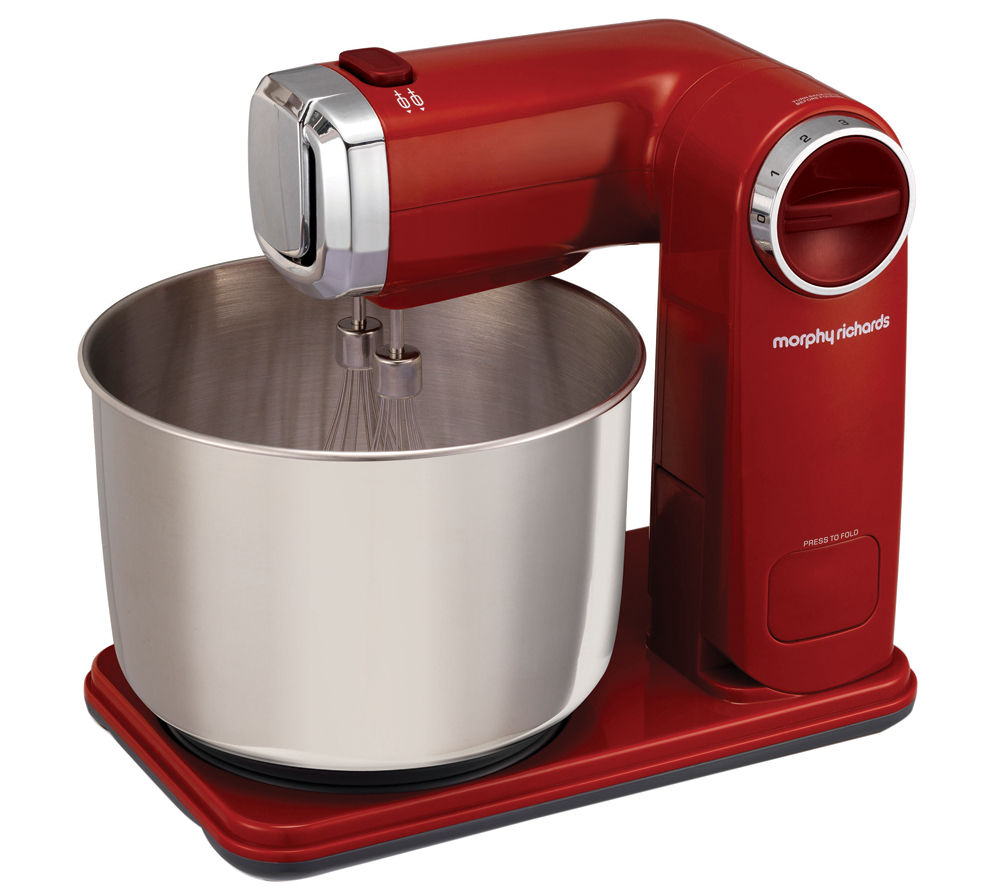 Food Mixers Kitchen ~ Buy morphy richards folding stand mixer red