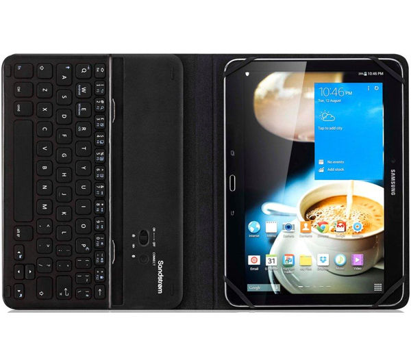 Image of SANDSTROM S10UKBF14 Keyboard Folio Tablet Case - Black