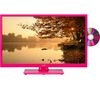 "LOGIK L24HEDP15 24"" LED TV with Built-in DVD Player - Pink"
