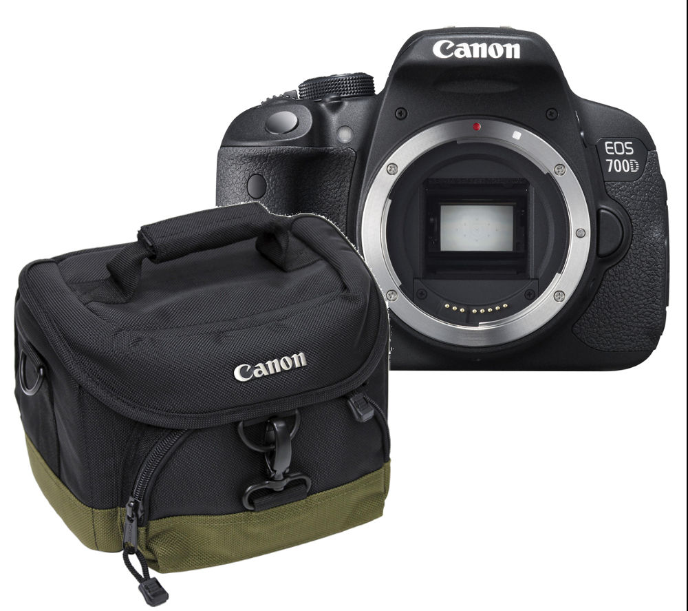 Canon EOS 700D DSLR Camera - Body Only with 100EG Deluxe Gadget DSLR Camera Bag