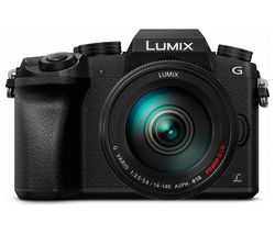 PANASONIC Lumix DMC-G7EB-K Compact System Camera with Lumix G VARIO 14-140 mm f/3.5-5.6 ASPH POWER OIS Telephoto Zoom Lens - Black