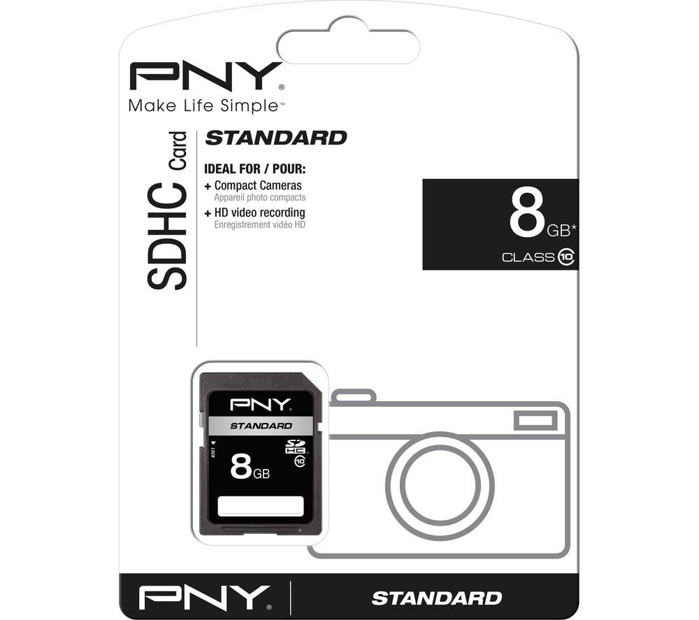 Pny Standard SD Memory Card  8 GB