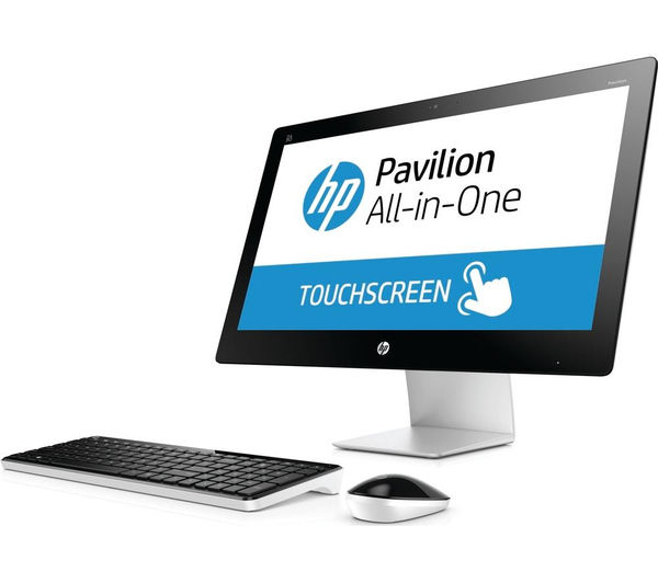 buy hp pavilion 23 q055na touchscreen all in one pc free delivery currys. Black Bedroom Furniture Sets. Home Design Ideas
