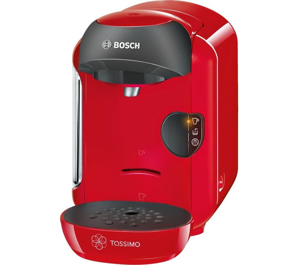 buy tassimo by bosch vivy ii tas1253gb hot drinks machine red free delivery currys. Black Bedroom Furniture Sets. Home Design Ideas