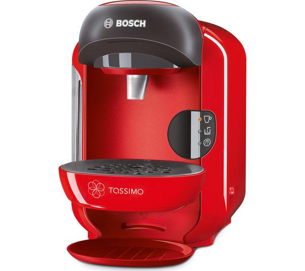 Bosch Tassimo Coffee Maker T Discs : Buy TASSIMO by Bosch Vivy II TAS1253GB Hot Drinks Machine - Red + Costa Cappuccino T Discs ...