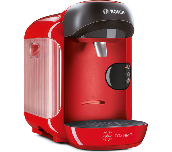 Buy TASSIMO by Bosch Vivy II TAS1253GB Hot Drinks Machine - Red + Costa Cappuccino T Discs ...