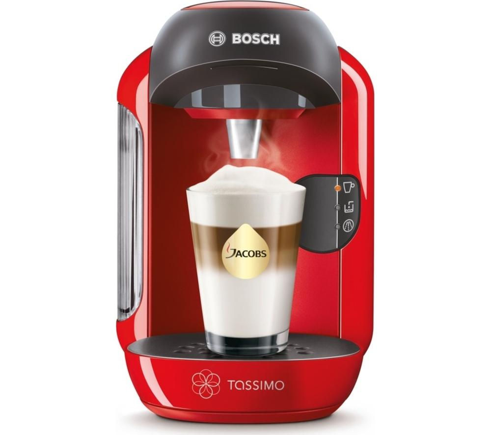 bosch tassimo red vivy tas1253gb coffee multi hot drinks pods machine maker ebay. Black Bedroom Furniture Sets. Home Design Ideas