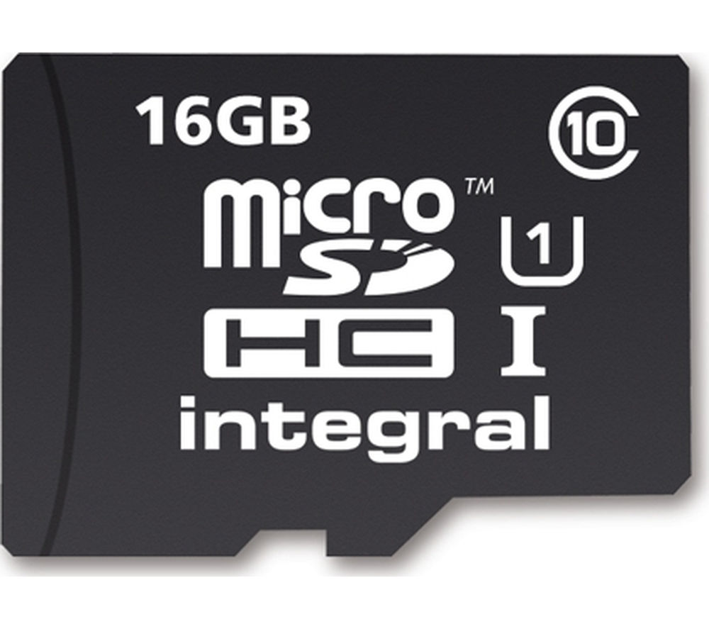 INTEGRAL  UltimaPro Class 10 microSD Memory Card - 16 GB.