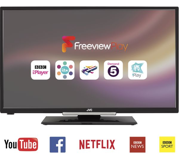 "Lcd Vs Led Tv: JVC 32"" Inch SMART LED LCD TV, Freeview HD Tuner, WiFi"